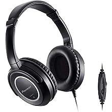 Pioneer SE-M631TV Cuffia Audio Comfort con Cavo da 5 Metri e Regolazione Volume, Nero