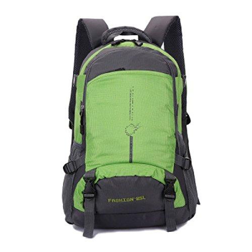 LQABW Outdoor-Nylon Wasserdichtes Haltbares Wandern Berg Beiläufige Reduziert Breath Rucksack Tasche Green