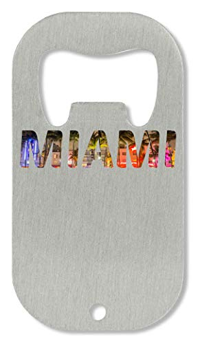 Miami Hipster Fashioned Back Grounded Slogan Abrebotellas