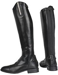 Horka botas de equitación ámbar Junior, negro, 37EU Normal Calf