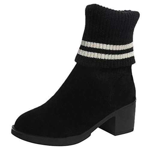 Schneestiefel,Damen Oliviavan high Heels Stiefeletten Schwarz Wildleder Elegante Schuhe...