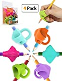 Pencil Grips, Firesara 2018 New Original Breakthrough Design Writing Correction Device Handwriting Aid Pencil Grip for Kids Children Adults Special Needs Righties or Lefties (4PCS)