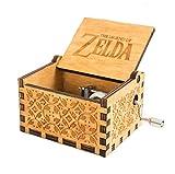 MINSOTO The Legend of Zelda Film Thema Antik Carved Musik Box Handkurbel aus Holz Spieluhr Spielzeug ((B) Holz)
