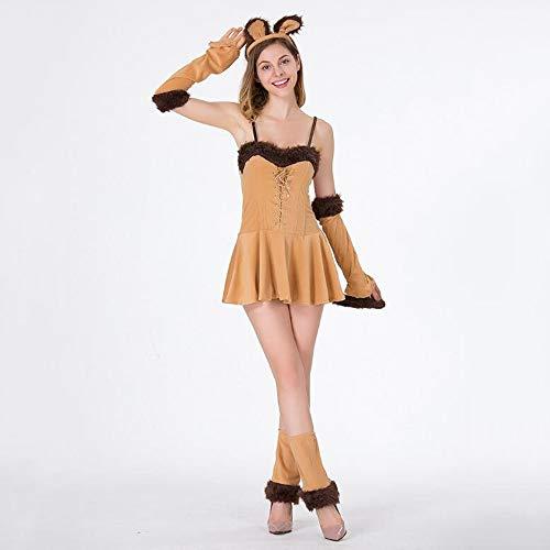 Damen Halloween Queen Outfit Outfit Katze Damen Party Nacht Shop Performance Hexenkostüm ()