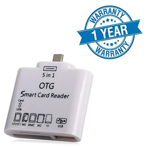 Lambent 5 in 1 OTG Card Reader for Smartphone