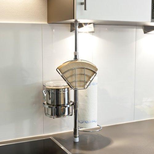 bremermann® Küchen-Teleskopregal, Küchenregal, Küchenstange, 6413