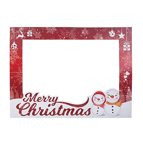 Amosfun Cornice per foto di Natale Cornice per foto di Natale Cornice per selfie di Natale Cornice per foto divertenti Puntelli Fornitura per feste di Natale