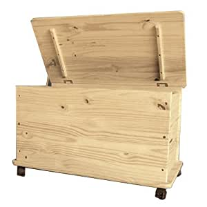 Baule cassapanca legno grezzo casa e cucina - Cassapanca in legno ikea ...