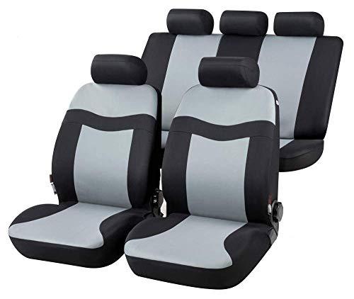 rmg-distribuzione Coprisedili per Clio Versione (2012 - in Poi (IV)) compatibili con sedili con airbag, bracciolo Laterale, sedili Posteriori sdoppiabili R34S0700