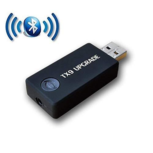 FDG [Upgrade Version] Bluetooth Sender 3,5 mm Portable Stereo Audio drahtloser Bluetooth Audio Sender für TV, iPod, USB Netzteil (2 Geräte gleichzeitig) -