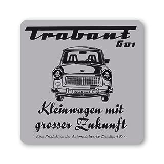 Untersetzer Trabant 601 – Trabbi - Bierdeckel - grau - Lizenziertes Originaldesign - LOGOSHIRT