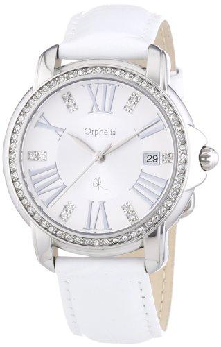 Orphelia - OR32170911 - Montre Femme - Quartz Analogique - Cadran Argent - Bracelet Cuir Blanc