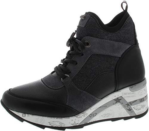 Cetti Damen Sneaker C1151 Sweet Lame Negro schwarz 548498