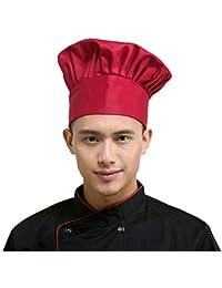 Fumee - Sombrero de cocina ajustable elástico para cocinar a adultos, para chef o chef
