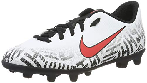Nike Neymar Jr. Vapor 12 Club FG, Chaussures de Football Mixte Enfant, Multicolore (White/Challenge Red/Black 170), 36 EU