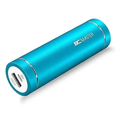 BC Master 5000mAh en Format Lipstick Mini Batterie Externe (5V/2A) Chargeur Portable de Secours avec LED pour IPhone, Samsung, HTC, Huawei, Sony, Lenovo, IPad et les autres Tablettes etc. - Bleu