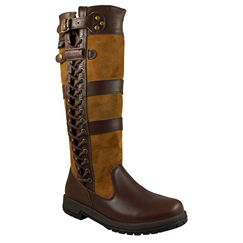 Kanyon Unisex Adults Waterproof Leather Riding Stable Walking Country Boots Regular &...