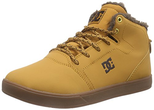 DC APPAREL CRISIS HIGH WNT B SHOE WD4, Sneakers Hautes garçon Marron (Wheat/Dk Chocolate)