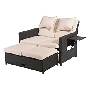 greemotion 3 in 1 rattan gartensofa bahia in. Black Bedroom Furniture Sets. Home Design Ideas