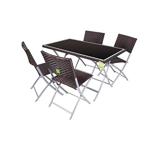 viscio-trading-168880-mesa-polirattan-c-con-4-sillas-space-marron-coveri-marron