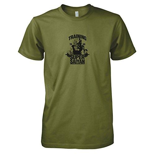 TEXLAB - DBZ: Training to go Saiyan - Herren T-Shirt Oliv