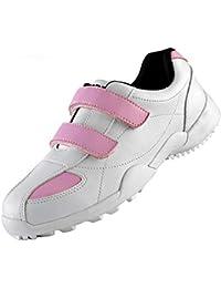 PGM Calzado deportivo de golf para mujer, zapatillas deportivas de velcro, impermeable, transpirable