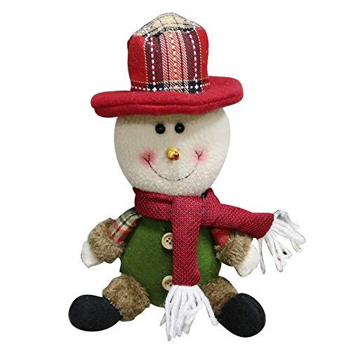 (Happy Event Christmas Weihnachtsbaum Weihnachtsmann Schneemann Rentier Baum Anhänger Dekoration | Party Garten Hochzeits Verzierung | Zubehör für hängende Accessoires (B))