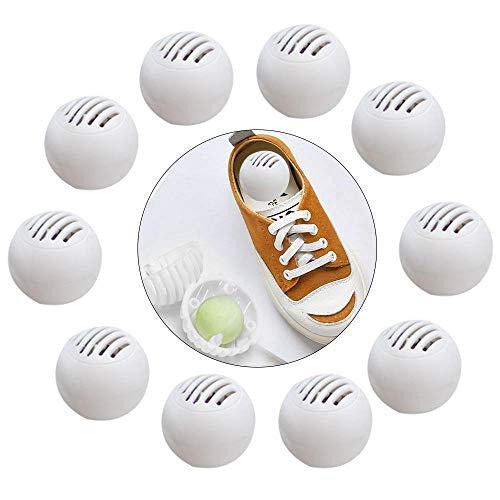 Peedeu Schuhdeodorierbälle (enthält 10 Kugeln), Schuh-Deo für Sneaker, Spind, Turnbeutel, Zuhause, Büro und Autos, frische Luft, natürliches fruchtiges Aroma -