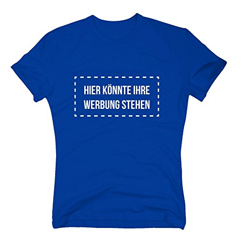 Herren T-Shirt - Hier könnte Ihre Werbung stehen - von SHIRT DEPARTMENT schwarz-weiss