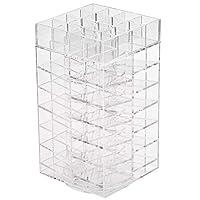 Feibrand Spinning Lipstick Holder Tower Rotating Make up Organiser Storage Clear for 64 Lipsticks