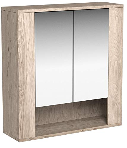 Badspiegelschrank Eiche – 70 cm - 6
