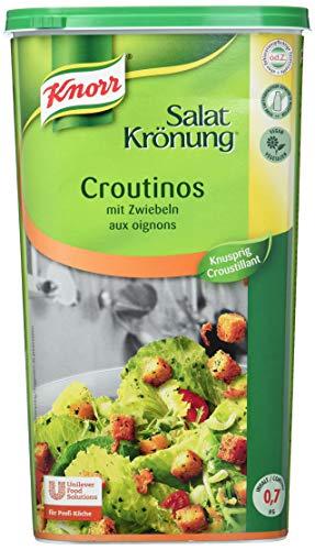 Knorr Salatkrönung Croutinos mit Zwiebeln (knuspriges Topping für Salat und Suppe) 1er Pack (1x700g)