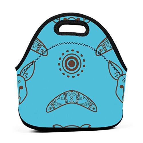 Lunchboxen für Kinder, Blau Australien Tiere, Lunchbox für Mädchen, Lunchbox für Erwachsene, kleine Frauen, Lunchbox für Camping, Reisen