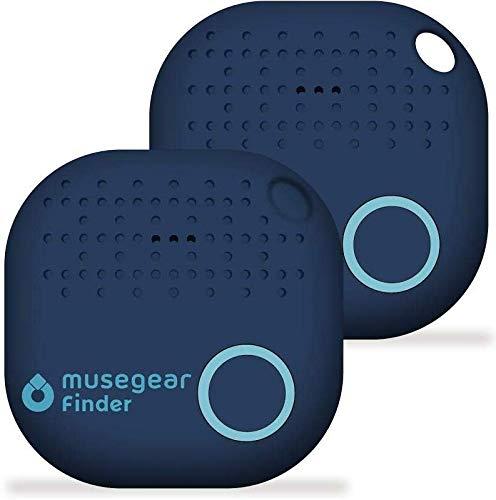 musegear® Schlüsselfinder mit Bluetooth App aus Deutschland I Maximaler Datenschutz I dunkelblau 2er Pack I Schlüssel Finden