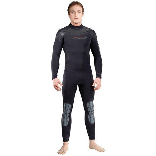 Akona Mens 7mm Quantum Stretch Cold Water Wetsuit (Black, Medium) by AKONA -