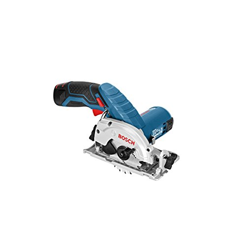 Bosch Professional Bosch GKS 10.8 V-LI Professional Cordless Circular Saw 10.8 V (includes 2 x 2.0 Ah Lithium Ion Batteries)