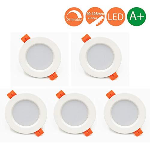 Foco Empotrable Led Techo,7W,Blanco Cálido 3000K, Regulable,550 Lumens,IP44,led Luz de Techo para...