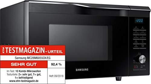 Samsung MC28M6055CK/EG Heißluft-Mikrowelle / 900 W / 28 L Garraum (Extra groß) / 51,7 cm Breite / HotBlast / Slim-Fry