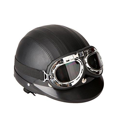 KKmoon Casco Abierto Protección para Motocicleta Scooter Bicicleta 54
