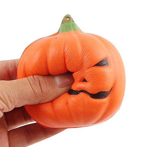 zahuihuiM Kleine Halloween Weiche Kürbis Squeeze Spielzeug, Squishy Slow Rising Spielzeug, Telefon...