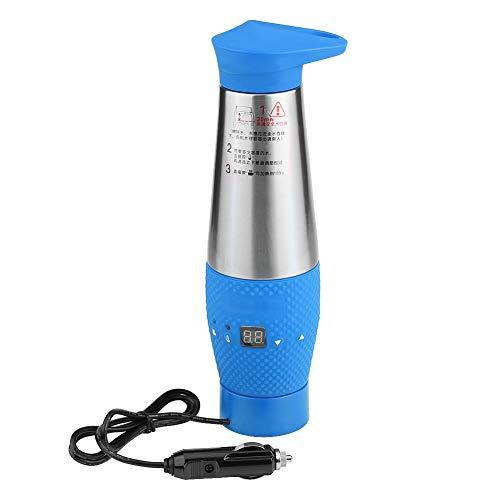 KIMISS 12 V 80 Watt Auto Vakuumisolierte Wasserkocher Digital LCD Temperaturanzeige Reise Heizung Tasse Wasser Kochen Tasse(Blau) ... (Reise-wasser-heizung)