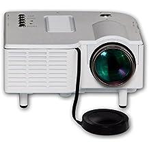 niceao Mini portátil LED Proyector Mini Proyector LCD UC28HD Proyector para cine en casa Theater Entretenimiento Energía sparung unterstüzen VGA/USB/SD/AV/HDMI con enchufe UE