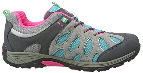Merrell Chameleon Low Lace Waterproof, Chaussures de Randonnée Basses Fille Multicolore (Grey/Multi)