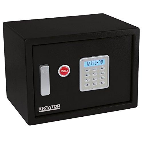 Kreator Elektronischer Safe Tresor Geldsafe Haussafe LCD Anzeige 4 mm Türstärke