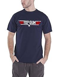 Officially Licensed Merchandise Top Gun Distressed Logo T-Shirt (Navy)