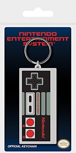 Nintendo Schlüsselanhänger aus Gummi, Mehrfarbig, 4.5 x 6 cm
