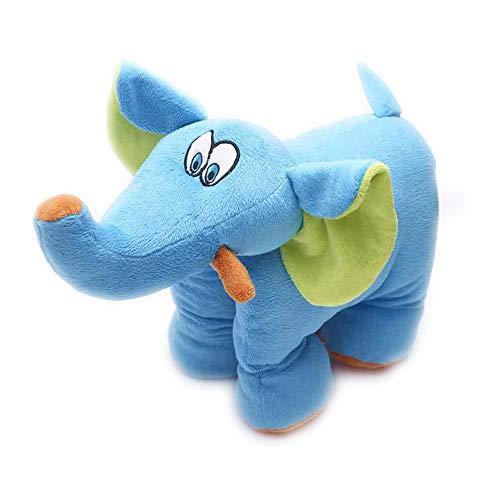 Travel Blue Kinderkissen Trunky Der Elefant Reisekissen Flauschiges Reisezubehör Bequem & erholsam...