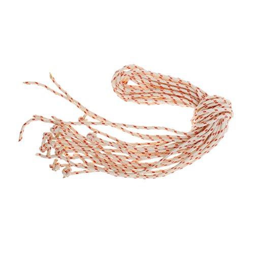 perfk 10pcs Reißleine Flechtschnur Seilzug Starterseil für Rasenmäher und Schneefräse, 3,0 mm Durchmesser