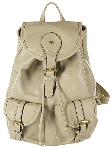 Damen Rucksackhandtasche - Backpack - Rucksack, 28x40x15 cm (BxHxT), T8006 Grey
