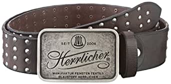 Herrlicher Herren Gürtel 3063 L1125 Basil Leather, Gr. 95, Braun (mocca 144)